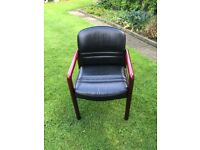 Two matching leather office chairs in excellent condition