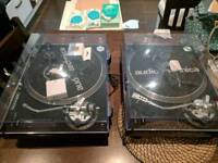 Audio Technica AT-LP120 USB x 2 Turntables