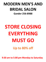 Modern Men's and Bridal CLOSEOUT sale