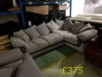Grey jumbo corner sofa