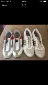 Used shoes for woman Puma and Adidas, very clean
