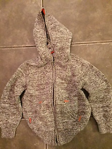 Excellent Condition Boys Hooded Sweater; Size 5