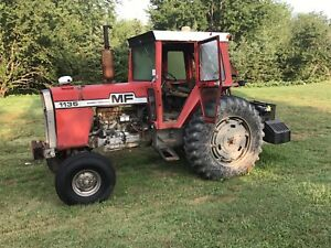 Massy ferguson tractor with side arm bush cutter