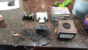 Game Cube With 2 Controllers and 7 Games