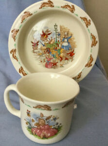 TWO ROYAL DOULTON BUNNYKINS CHILDS BOWL & CUP * SWEET