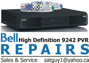 BELL SATELLITE RECEIVER REPAIRS PVR 9241 9242 9400 and 6400 Miss