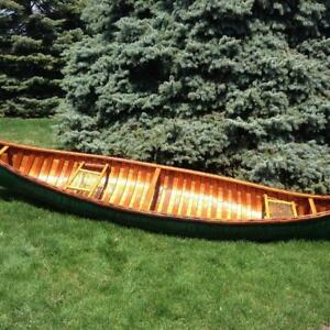 TREMBLAY wood and canvas canoe