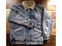 Vintage acid wash denim jacket/coat (Unisex)
