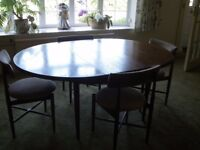 1960's G-Plan teak round table and chairs
