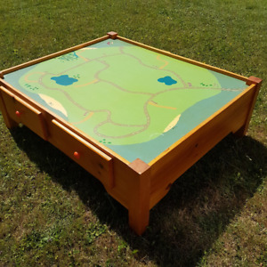 Childrens Play Table - custom made with Storage