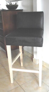 Tabouret de bar rembourré gris foncé  Dark grey bar stool