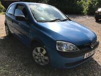 Vauxhall Corsa Comfort DI 1686cc Diesel 5 speed manual 3 door hatchback 51 Plate 26/10/2001 Blue