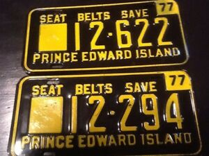 Seat Belts Save- PEI- Antique Licence plate