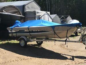 Misty river boat and honda four stroke