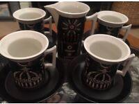 Portmeirion 'Magic City' retro Coffee set