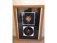NINE INCH NAILS Collectible CAPITAL G Vinyl 10 inch Single in Frame c/w SURVIVALISM + other bits.