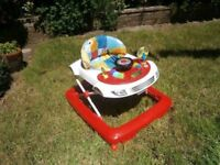 Chad Valley Rainbow Light/Sound Walker - Fisher Price Rainforest Bouncer - Mamas & Papas Snug Seat