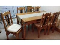 mexican corona table and 6 chairs