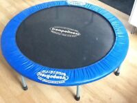 A trampoline in good condition