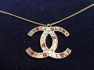 AUTHENTIC CHANEL Vintage CC Logo Necklace