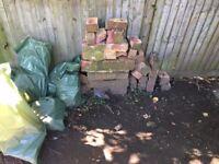 FREE BRICKS - From fallen garden wall