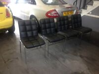 4 LEATHER DINNING CHAIRS A1 COND PAID 400 NOW 100