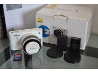 Boxed Nikon 1 J1 10.1 MP Digital Camera + 10-30mm Lens + 8GB SD - Mirrorless System
