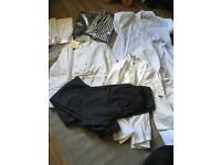 BUNDLE OF CHEFS/CATERING CLOTHING ALL BRAND NEW - TROUSERS, COATS AND APRONS RRP Over £150