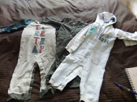 3 x All In Ones Suits Age 18-24 Months