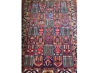Antique rug, lots of character, beautiful colours