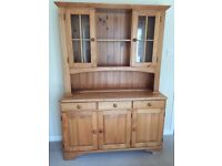 Solid Pine Three Door Dresser - used but in good condition