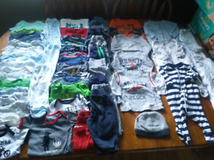 K- 50 items of boys 3-6m basics