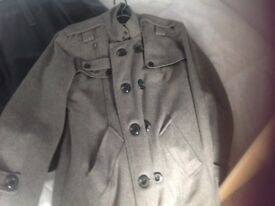 Men,s G.L Fashion Grey Woollen Coat (size medium) Like New £10