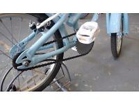 GIRLS APOLLO CHERRY LANE BIKE 16 INCH WHEELS BLUE GOOD CONDITION