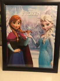 Framed Frozen poster