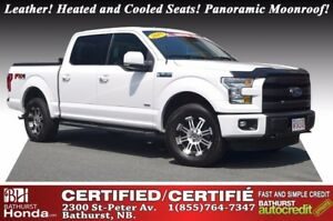 2015 Ford F-150 Lariat Leather! Heated and Cooled Seats! Panoram