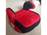 2 red and black children kid car booster seats