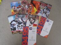 GUILDFORD FLAMES ICE HOCKEY PROGRAMMES 9 IN TOTAL