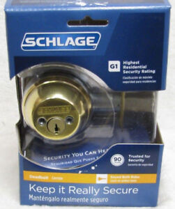 SCHLAGE MAXIMUM SECURITY DEADBOLT SYSTEM (NEW IN PKG)
