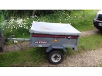 Erde 101 box trailer with cover