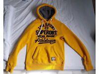 Superdry men's Core Appliqué hoodie (Yellow) M Size