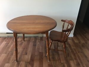Dining table with one chair