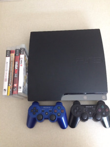 PS3, 4 GAMES, 2 CONTROLLERS - GREAT CONDITION