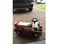 Kids red fire engine
