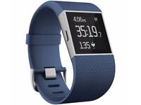 Fitbit Surge Blue - Large BRAND NEW WITH CHARGER