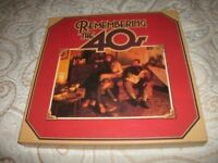 "READERS DIGEST-""REMEMBERING THE 40'S""-1980-8 X LP'S BOX SET."