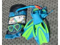 Children's Snorkel, Fins and Mask Set - Shoe size 1 to 3