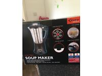 Soup maker electric never been used unwanted gift, cooks soups, sauces boils eggs, blend pulse steam