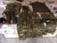 Men's Army clothing and Boots
