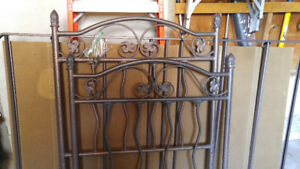 twin wrought iron bed frame